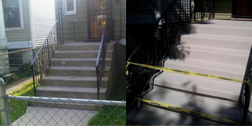 concrete stairs chicago before and after renovation