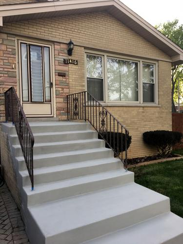 concrete stairs chicago after renovation