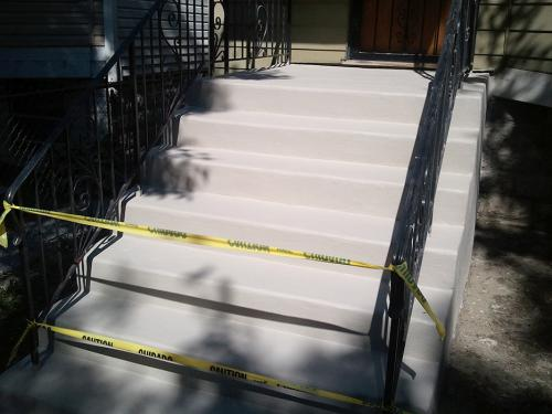 concrete stairs Elmhurst after renovation