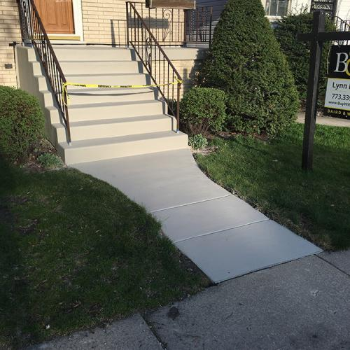 new concrete stairs Elmhurst after renovation